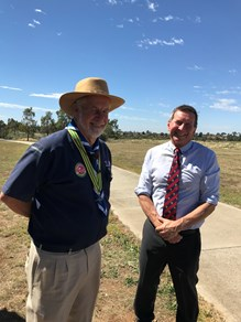 Immediate Past Chief Commissioner Bob Taylor and Government and Community Engagement Manager Rob Charlesworth